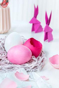 #Ostern #Tischdeko #Eier #färben #easter #eggs #coloured
