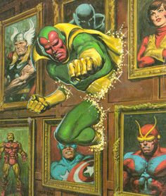 Vision by Miguel Sepulveda: The Vision is the name of a number of fictional characters, all superheroes, that appear in comic books published by Marvel Comics. Description from pinterest.com. I searched for this on bing.com/images