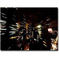 Trademark Fine Art City Lightshow Canvas Wall Art by Ariane Moshayedi, Size: 22 x 32, Multicolor