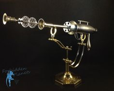 Modern Retro Sci-fi Ray Gun Steampunk Style Space Weapon Assemblage Sculpture
