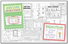 Awesome Adjectives! This unit is full of fun activities that are perfect for teaching adjectives to your students!