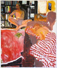"""Doron Langberg (Israeli, b. Zach and Nir, Oil on linen, 96 x 80 in. Figure Painting, Painting & Drawing, Painting Inspiration, Art Inspo, Ap Art, Portrait Art, Figurative Art, Cool Art, Art Drawings"