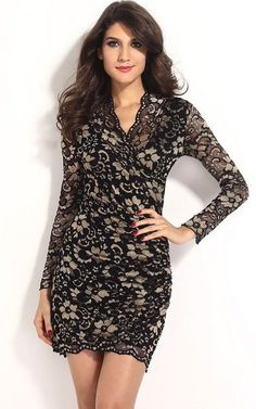 A sexy lace dress with gold floral patterning. Is both sensuous and stunning and very flattering. Designed to make you feel and look the beauty that you are. Will turn heads and make you distinctly remembered. Very fashionable and very trendy in lace with gold coloring.
