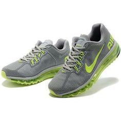 http://www.asneakers4u.com/ Cheap nike air max 2013 mens trainers grey green Sale Price: $69.30
