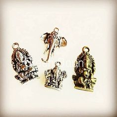Some of the beautiful Elephant & Ganesha Charms we carry in our shop. They are not common but there are those who love to use them for their dream cathers necklaces bracelets or even journal charms. . . . . www.greendaun.com . . . . #journaling #accessories #charms #tlfers #elephant #ganesha #jewelry #necklace #bracelet #greendaun #hindu http://ift.tt/2p111ID