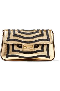 51d97e2f521c Fendi - Baguette micro appliquéd metallic textured-leather shoulder bag