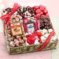 Valentines Chocolate, Sweets and Treats Gift Basket $34.95