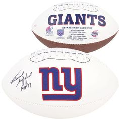 Frank Gifford New York Giants Autographed White Pro Football with HOF 77 Inscription