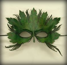green man leaf forest mask @Time Travel Costumes