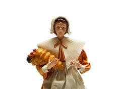 Thanksgiving Pilgrim with cornucopia