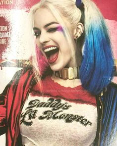 Margot Robbie Is Harley Quinn In Sucide Squad The Movie. Arlequina Margot Robbie, Margot Robbie Harley Quinn, Jared Leto Joker, Daddys Lil Monster, Cover Up Tattoos, Joker And Harley Quinn, Gotham City, Marie, Beauty