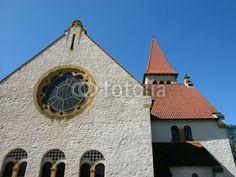 Kirchenfenster der evangelischen Kirche in Helpup bei Detmold im Kreis Lippe am Teutoburger Wald