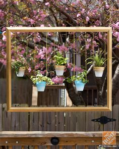 This DIY hanging garden would be a trendy piece to add to your wedding decor! It's easy to make, too. @homedepot