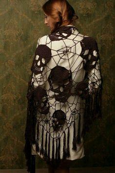 Skull shawl- inspiration only
