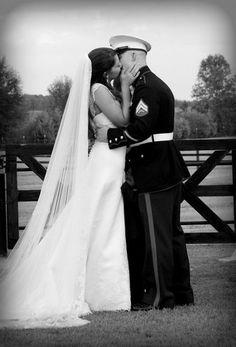 Marine wedding photography