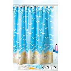 Seashell Shower Curtain, oriental trading