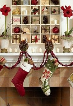 love the stockings and the advent calendar | pottery barn