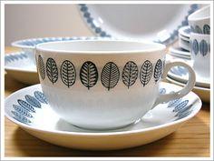 Grandma Ahola's Finnish Arabia china, Linnea design - Finland