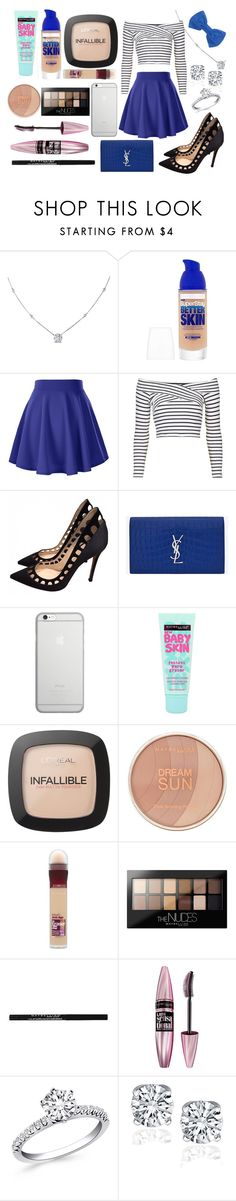 """blue"" by aliciadelgado on Polyvore featuring moda, Ice, Maybelline, Topshop, Gianvito Rossi, Yves Saint Laurent, Native Union, L'Oréal Paris y Missoni"