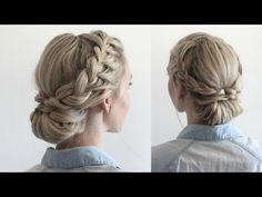 Easy Double Braided Updo - jordanhamilton | Vingle | Beauty, Hairstyles