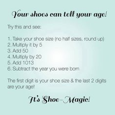 Check this out! Did it work for you? Like and Share if it did... and no, we're not going to ask you what size or your age!