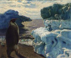Emperor Penguin, Admiralty Inlet Snow Hill, Antarctica by Frank Wilbert Stokes (circa 1902) Smithsonian American Art Museum