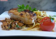 fischi`s cooking and more....: saftige hühnerbrust auf eierschwammerl Chicken, Meat, Food, Food Food, Recipies, Essen, Meals, Yemek, Eten