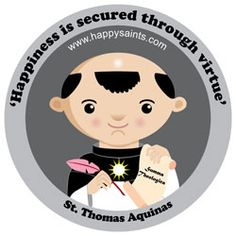 Happy Saints!  Whoever thought that St. Thomas Aquinas would look so cute?