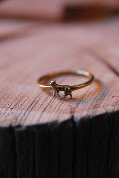 pretty tiny wolf ring