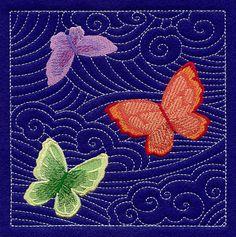 Butterfly Sashiko Square