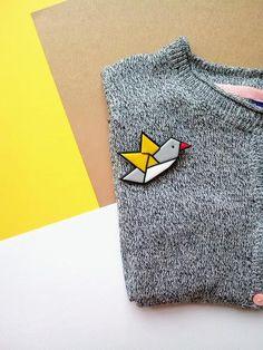 Dove brooch pigeon pin bird brooch origami bird brooch
