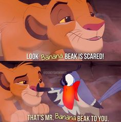 The Lion King. Simba and Zazu.