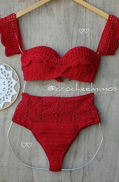 46 New Cute Crochet Bikini Pattern Images for new Summer 2019 Part crochet bikini pattern free, crochet bikini top, crochet bikini pattern Source by knittingwaycom de baño en crochet Motif Bikini Crochet, Bikinis Crochet, Knit Crochet, Crochet Mignon, Swimsuit Pattern, Crochet Stitches Patterns, Crochet Clothes, Pattern Images, Swimwear