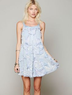 Free People Martini Embellished Trapeze, love the detail