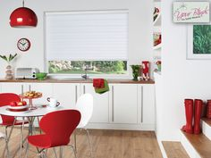 Vision Blinds - The Capri Ice in the closed but raised position.