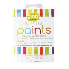 GLOB Natural 4 Paint Packets with Bamboo Brush - Lemon Verbena, Berry, Pomegranate & Basil. Colours of the garden! Monster Crafts, Homemade Playdough, Finger Painting, Nature Paintings, Art Plastique, Diy Craft Projects, Diy Crafts, Diy For Kids, Big Kids