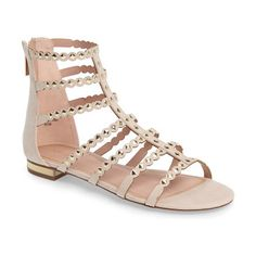 higher stud gladiator sandal by Topshop. Get the complete weekend-warrior uniform with faux suede gladiator sandals with pyramid studs and a gilded heel to sh...