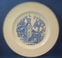Wheaton College Blue On White Souvenir Porcelain Plate