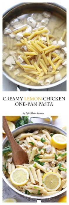 Creamy Lemon Chicken One-Pan Pasta makes the perfect weeknight meal made entirely in one pot in under 25 minutes.