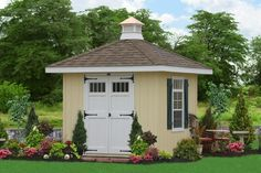 E140-14089 - 8x8 Hip Roof Shed with Wider Overhangs
