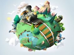 Boréalis Ipad Game - Low Poly World Blender 3d, Game Design, Anime Chibi, Image 3d, Low Poly Games, Polygon Art, Isometric Art, Modelos 3d, Low Poly Models