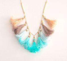 Nomadic Decorator | A Touch of Boho Chic: Tassel Necklaces | http://nomadicdecorator.com