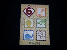 6 th Birthday boy card