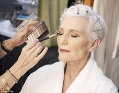 Maye Musk, 70, leads a legion of younger models in new CoverGirl campaign | Daily Mail Online Maye Musk, Beauty, Legion, Ageless Beauty, Younger, Covergirl, All Black Outfit, Musk, Black Outfit