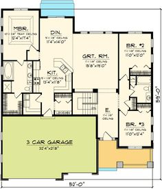 1000 images about house plans on pinterest house plans for House plans with split bedroom layout