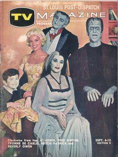 The Munsters on a St. Louis TV Guide (1965)  [First season photo…]