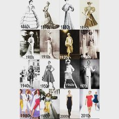 Style history #fashionblogger #overtheyearsandthroughthewoods #howtimechanges #trending