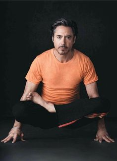 Love Him!!! Robert Downey Jr.  Does Yoga!!