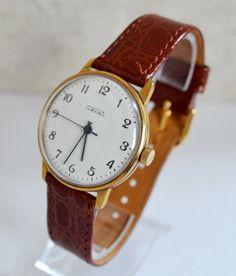 Men's Gold-plated Watch Vintage 1970s Collectibles #LuxuryDressStyles #Raketa #Luxury #Gold #watch #gifthim #forhim #collectibles