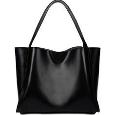 Yahoho Women's Genuine Leather Portable Tote Shoulder Bag with Leopard Print Liner Black